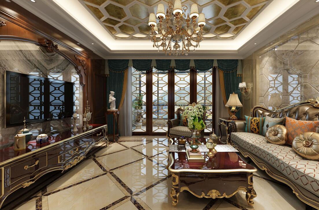 166㎡古典歐式家裝,一場奢靡的視覺盛宴!
