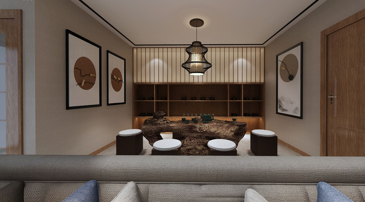 新景國際城四居室裝修  中式不是規規矩矩,也可以別具一格