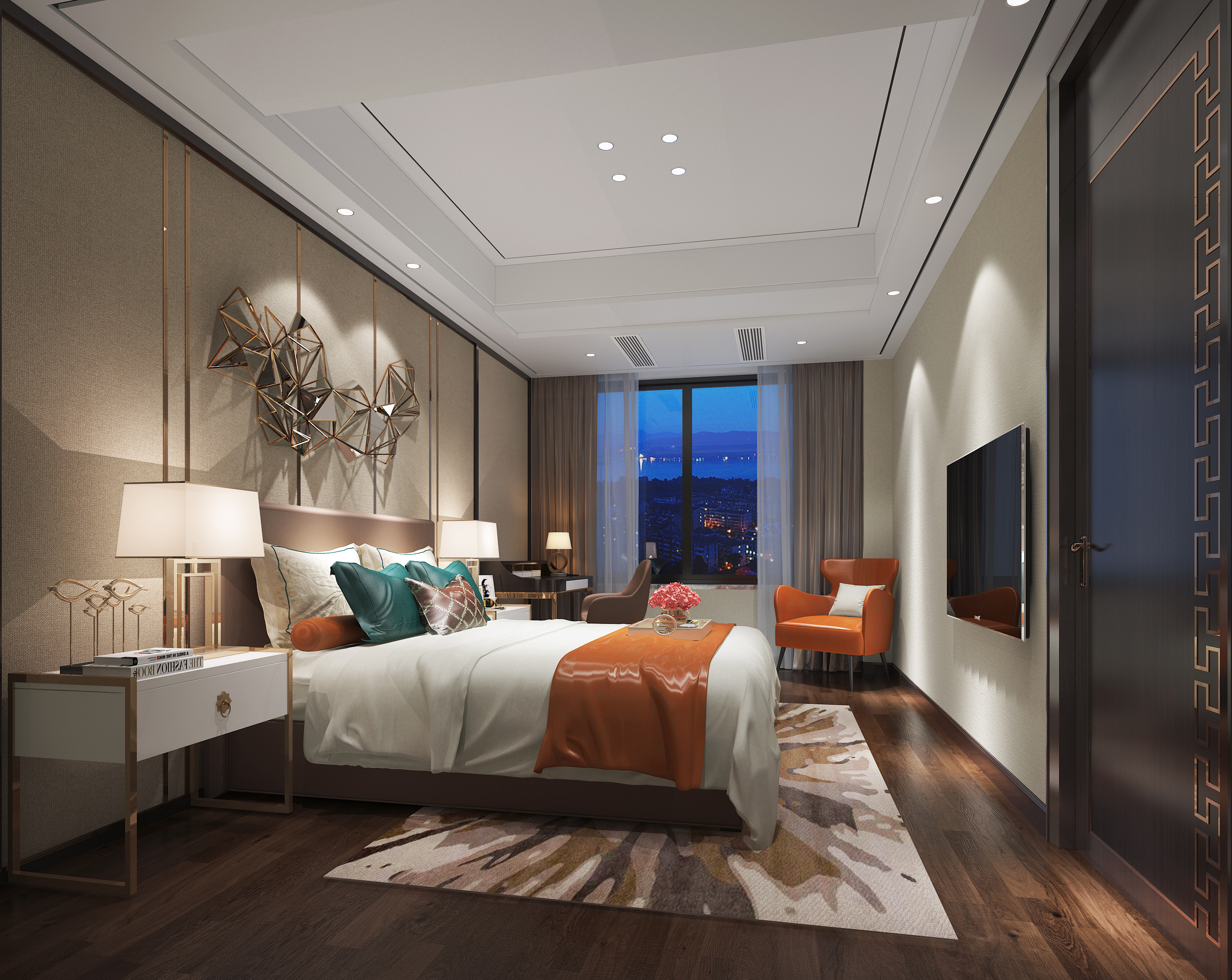 福泰海灣新城中式裝修  最好的房子往往是最懂生活的人造出來的