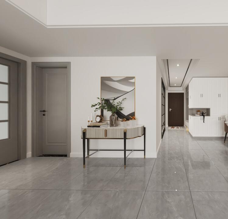 正元新都會現代風格  大面積留白的方式進行方案設計