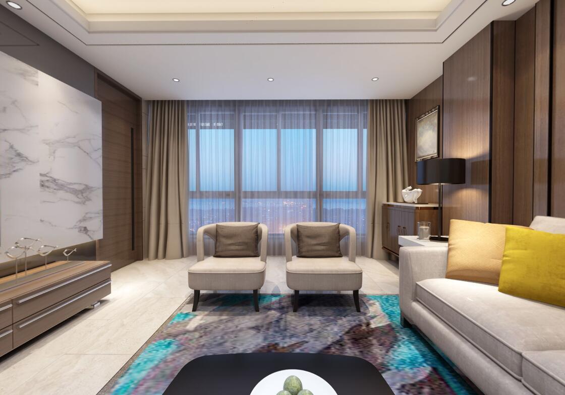 新景国际外滩现代装修  构成室内舒适的气氛
