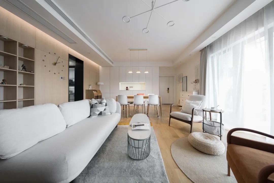 海投第一湾120㎡日式简约,简约≠简单的设计,满屋子的轻松与舒适