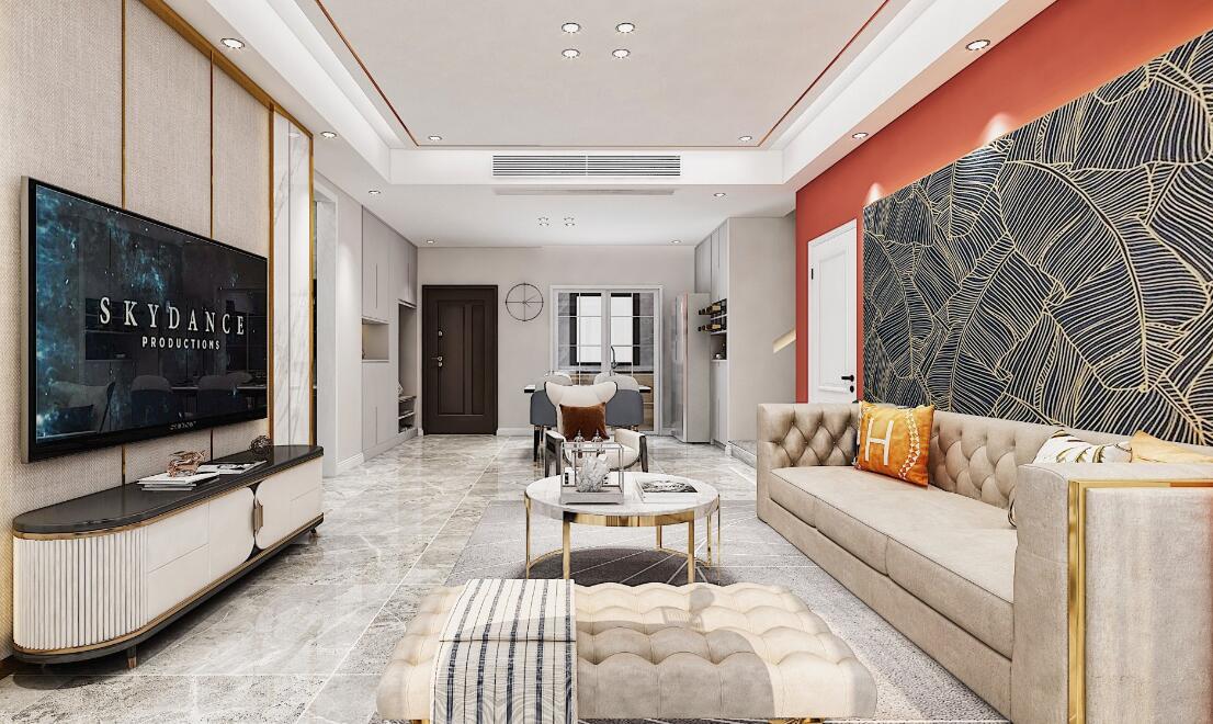 現代簡約-理想城-三室兩廳-120平米