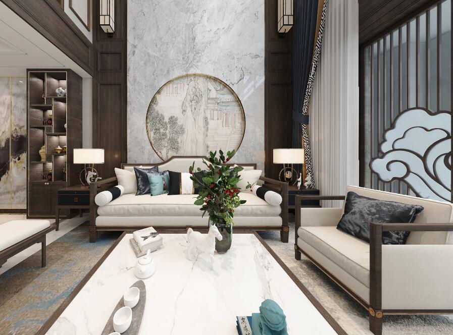 新中式-和谐天下-别墅-260平米